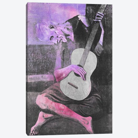 The Old Guitarist V Canvas Print #CML31} by 5by5collective Art Print