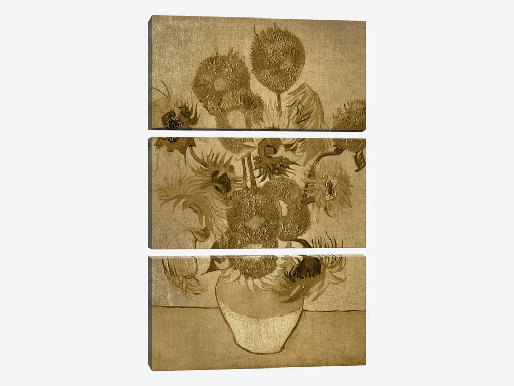 Sunflowers I by 5by5collective 3-piece Canvas Print