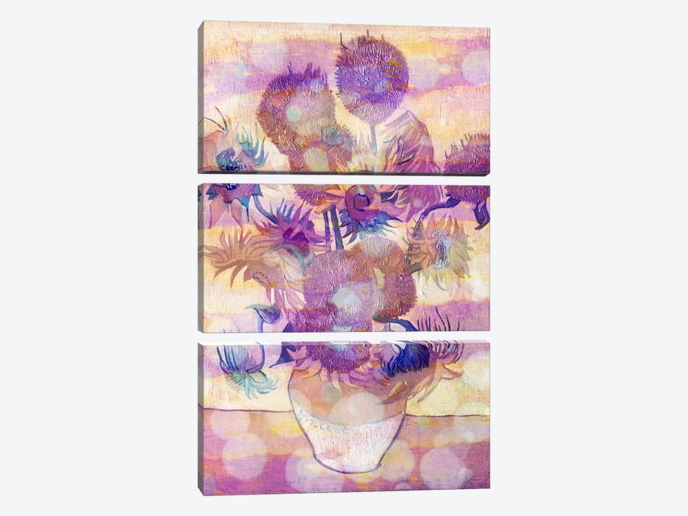 Sunflowers II by 5by5collective 3-piece Canvas Artwork