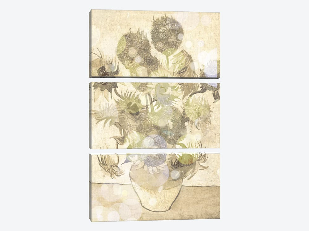 Sunflowers III by 5by5collective 3-piece Canvas Art Print