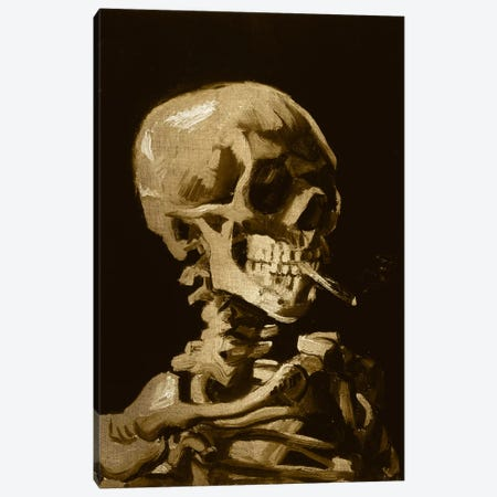 Skull of a Skeleton I Canvas Print #CML37} by 5by5collective Canvas Wall Art