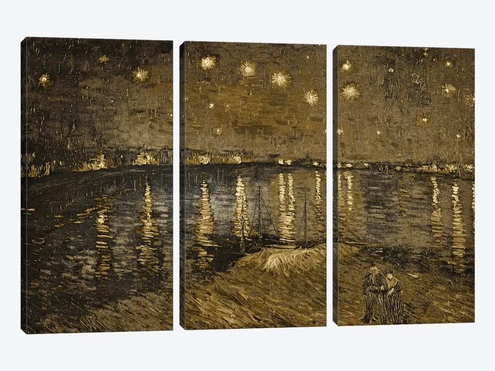 Starry Night Over the Rhone I by 5by5collective 3-piece Canvas Artwork