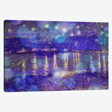 Starry Night Over the Rhone II Canvas Print #CML54} by 5by5collective Canvas Art