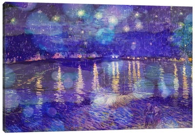 Starry Night Over the Rhone II Canvas Print #CML54
