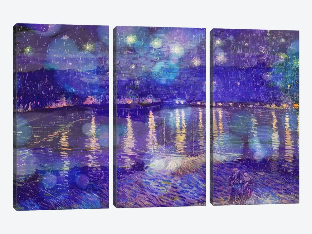 Starry Night Over the Rhone II by 5by5collective 3-piece Canvas Print