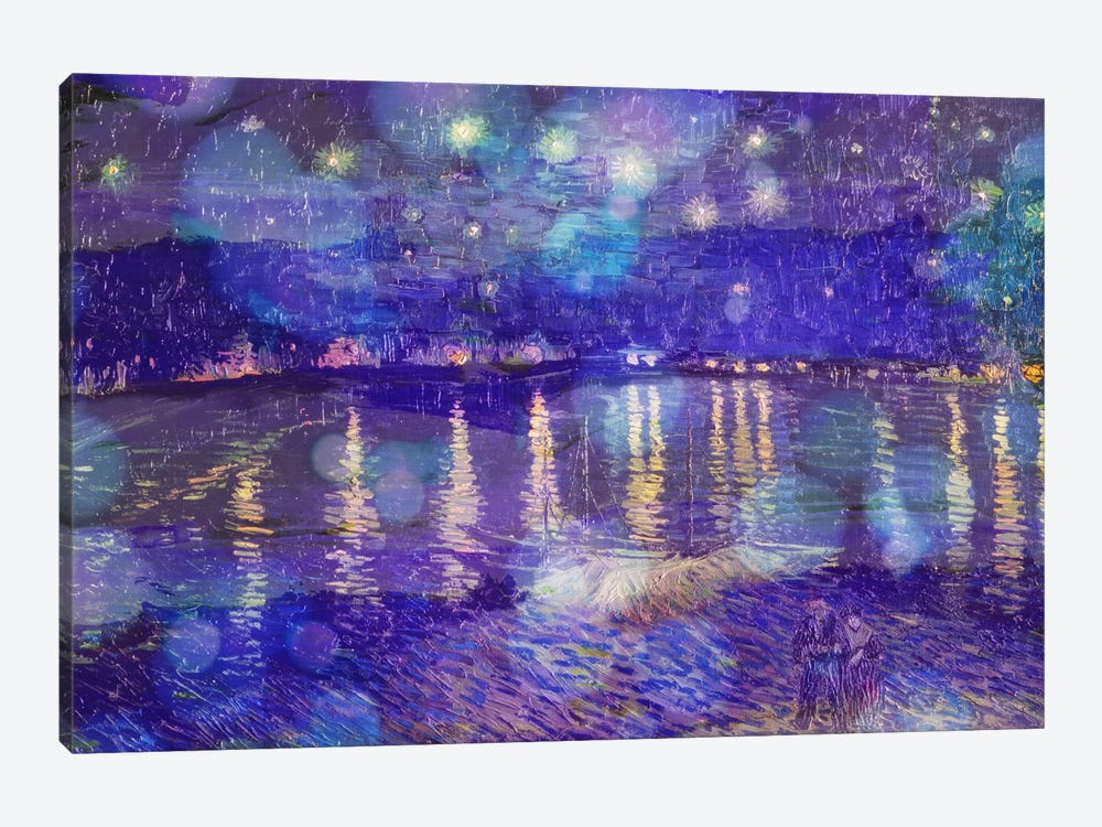 Starry Night Over the Rhone II by 5by5collective 1-piece Canvas Art Print