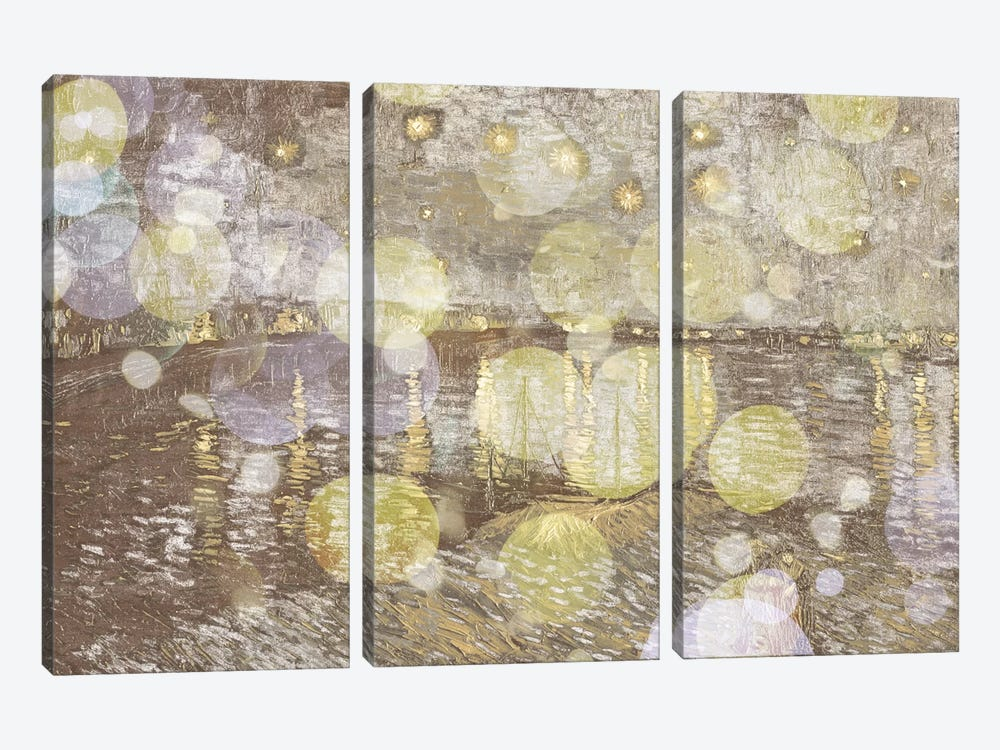 Starry Night Over the Rhone III by 5by5collective 3-piece Canvas Art