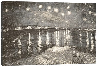 Starry Night Over the Rhone IV Canvas Art Print