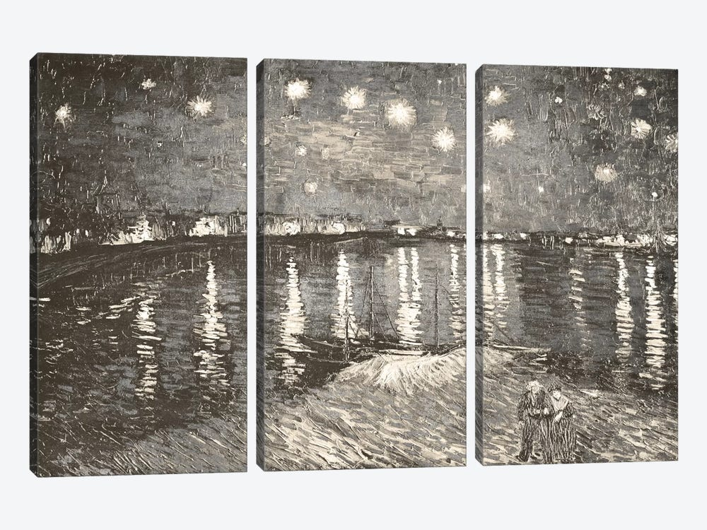 Starry Night Over the Rhone IV by 5by5collective 3-piece Art Print