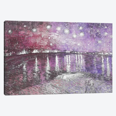 Starry Night Over the Rhone V Canvas Print #CML57} by 5by5collective Canvas Wall Art