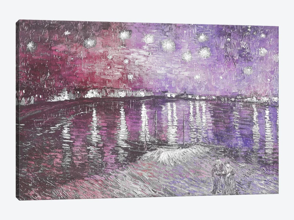 Starry Night Over the Rhone V by 5by5collective 1-piece Canvas Artwork
