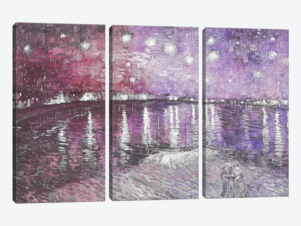 Starry Night Over the Rhone V by 5by5collective 3-piece Canvas Artwork