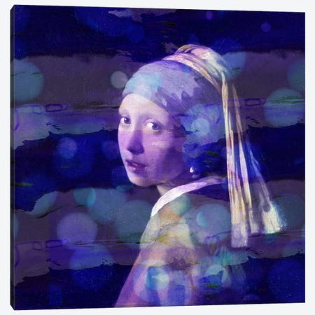 Girl with a Pearl Earring II Canvas Print #CML59} by 5by5collective Art Print