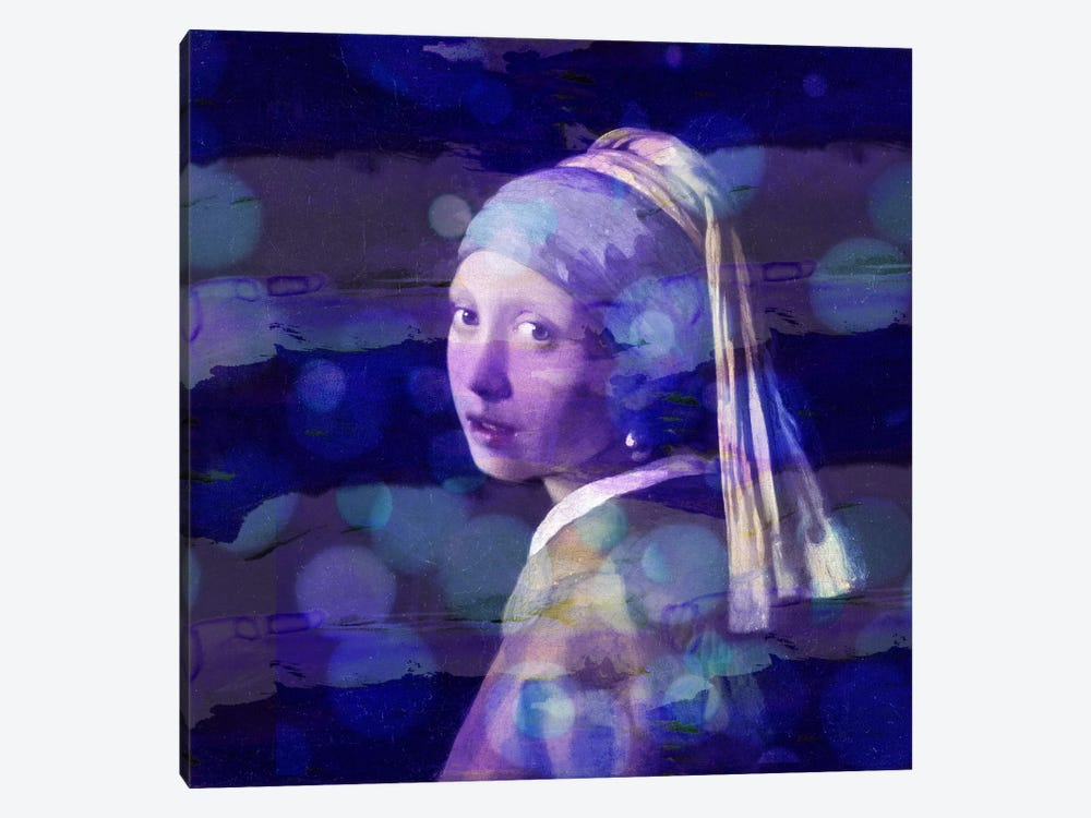 Girl with a Pearl Earring II by 5by5collective 1-piece Canvas Artwork