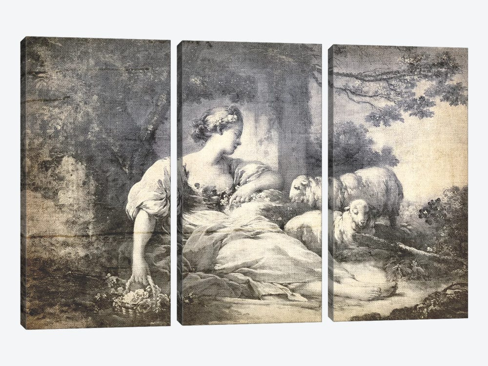 A Shepherdess V by 5by5collective 3-piece Canvas Art Print