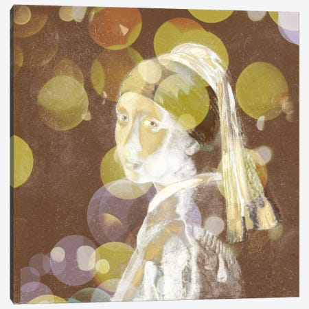 Girl with a Pearl Earring III Canvas Print #CML60} by 5by5collective Canvas Art