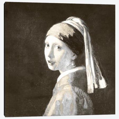 Girl with a Pearl Earring IV Canvas Print #CML61} by 5by5collective Canvas Art