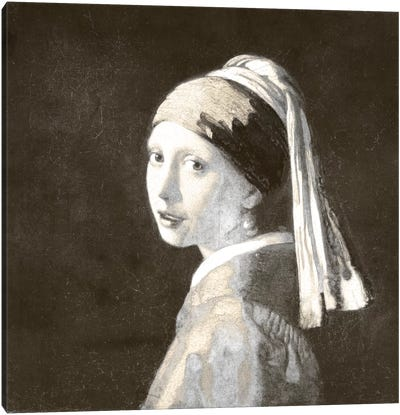 Girl with a Pearl Earring IV Canvas Art Print