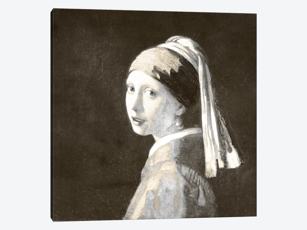 Girl with a Pearl Earring IV by 5by5collective 1-piece Canvas Art Print