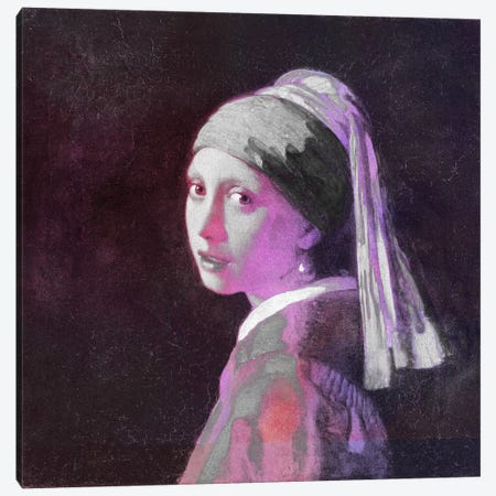 Girl with a Pearl Earring V Canvas Print #CML62} by 5by5collective Canvas Art