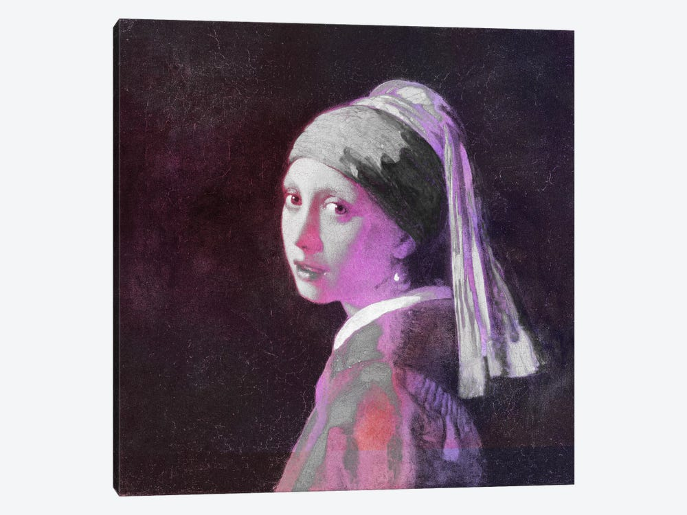 Girl with a Pearl Earring V by 5by5collective 1-piece Canvas Wall Art