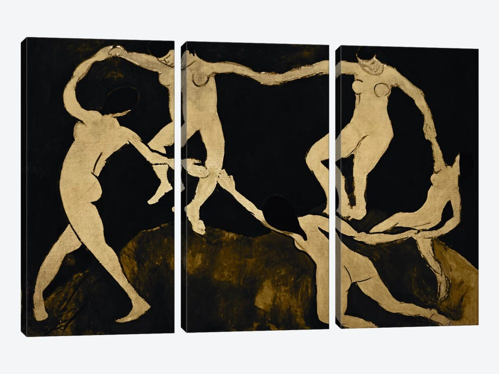 Dance VII by 5by5collective 3-piece Canvas Print
