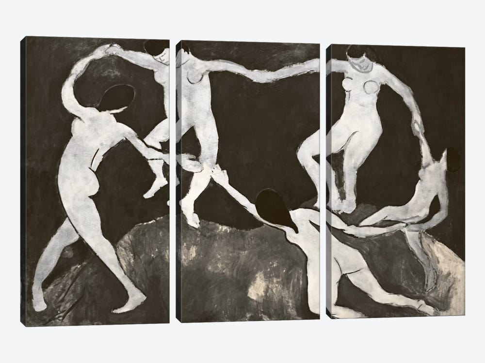Dance X by 5by5collective 3-piece Canvas Art