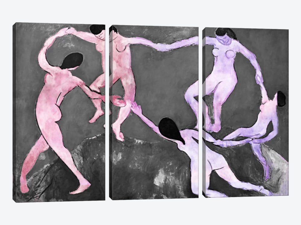 Dance XI by 5by5collective 3-piece Canvas Art Print