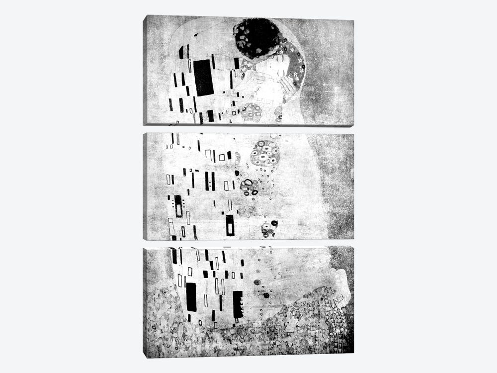 The Kiss VII by 5by5collective 3-piece Canvas Print