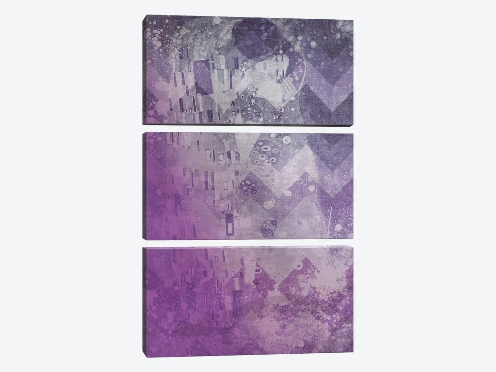The Kiss VIII by 5by5collective 3-piece Canvas Artwork