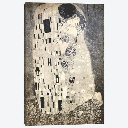 The Kiss X Canvas Print #CML77} by 5by5collective Canvas Artwork