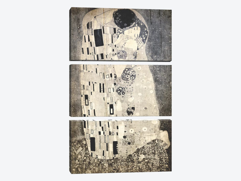 The Kiss X by 5by5collective 3-piece Canvas Art