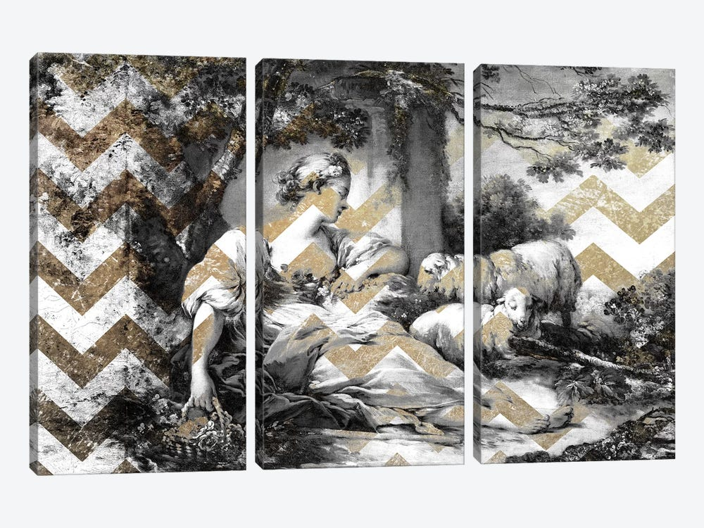 A Shepherdess VII by 5by5collective 3-piece Canvas Print