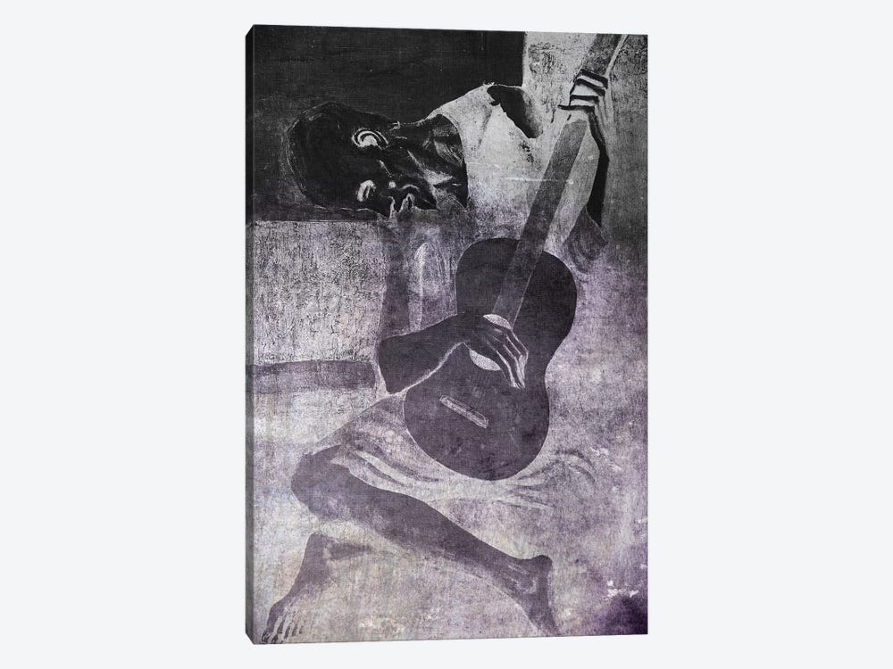 The Old Guitarist VI by 5by5collective 1-piece Canvas Art Print
