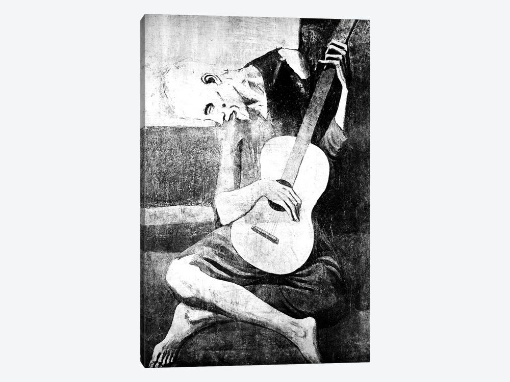 The Old Guitarist VII by 5by5collective 1-piece Canvas Artwork