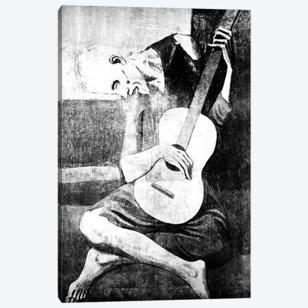 The Old Guitarist VII 3-Piece Canvas #CML86} by 5by5collective Canvas Print