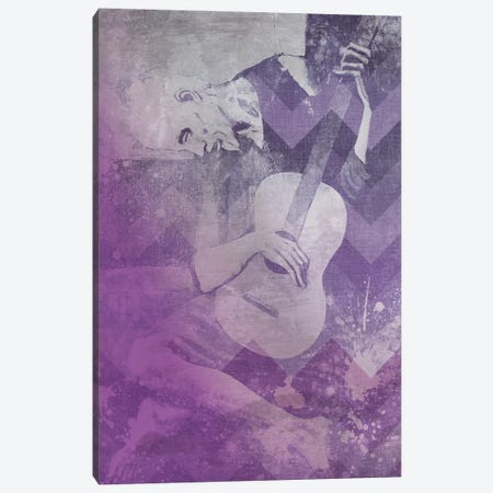 The Old Guitarist VIII Canvas Print #CML87} by 5by5collective Canvas Art Print