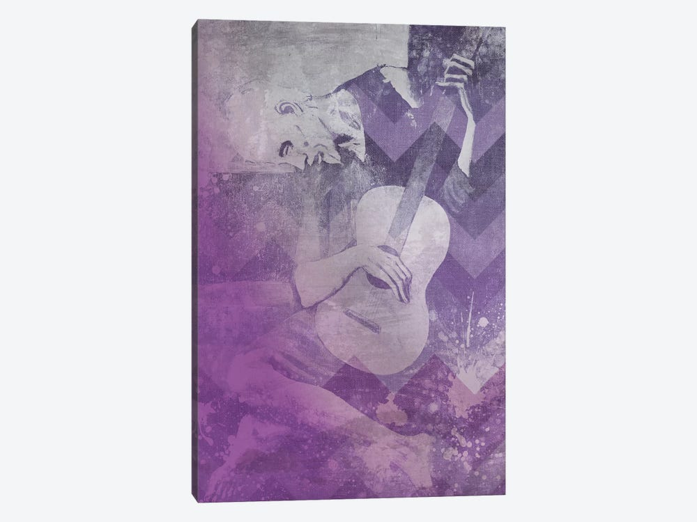 The Old Guitarist VIII by 5by5collective 1-piece Canvas Art Print