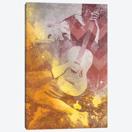 The Old Guitarist IX Canvas Print #CML88} by 5by5collective Canvas Artwork