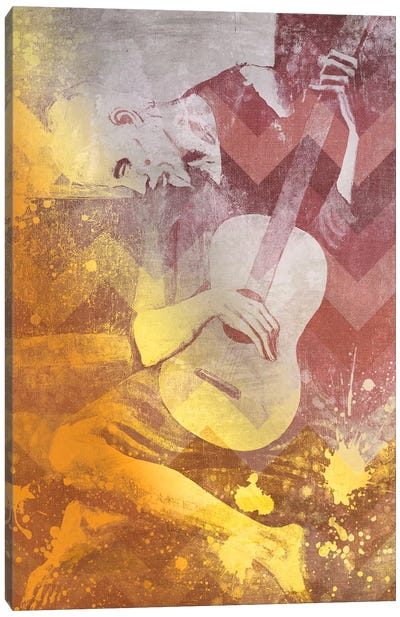 The Old Guitarist IX Canvas Print #CML88