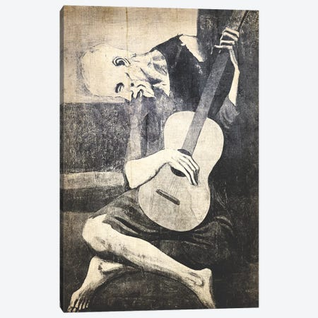The Old Guitarist X Canvas Print #CML89} by 5by5collective Canvas Wall Art
