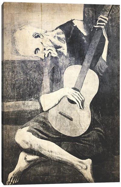 The Old Guitarist X Canvas Art Print