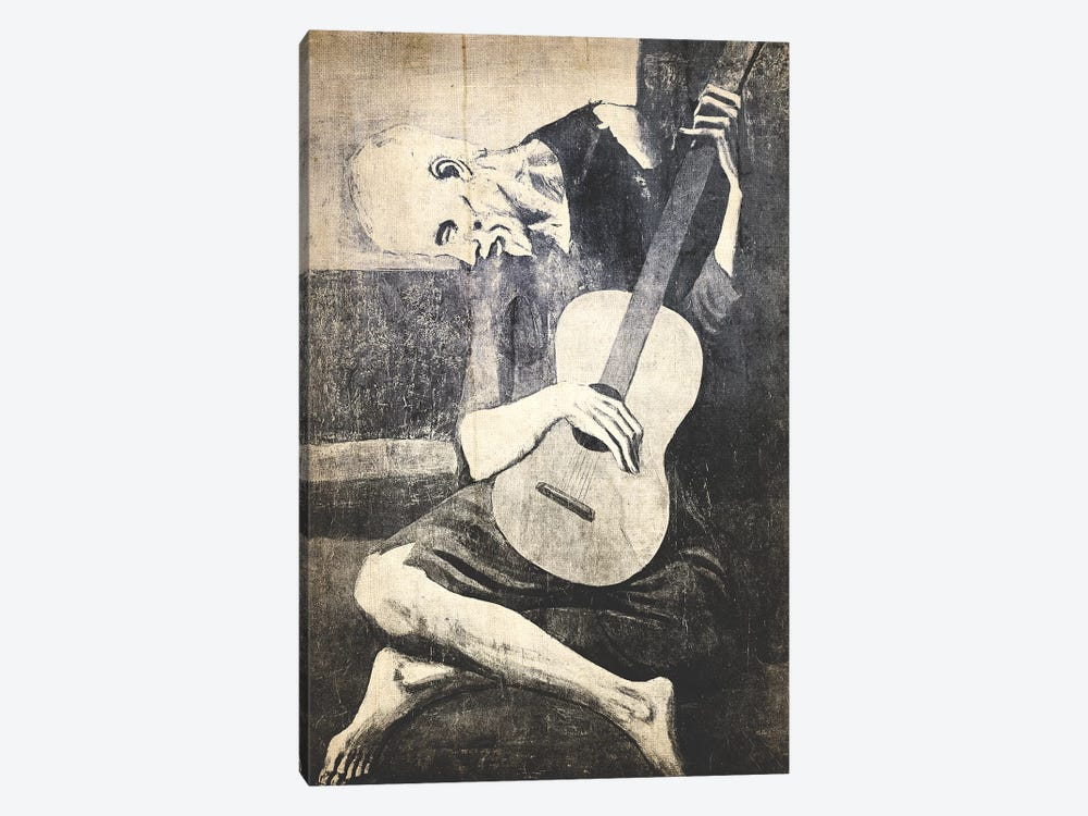 The Old Guitarist X by 5by5collective 1-piece Canvas Art Print