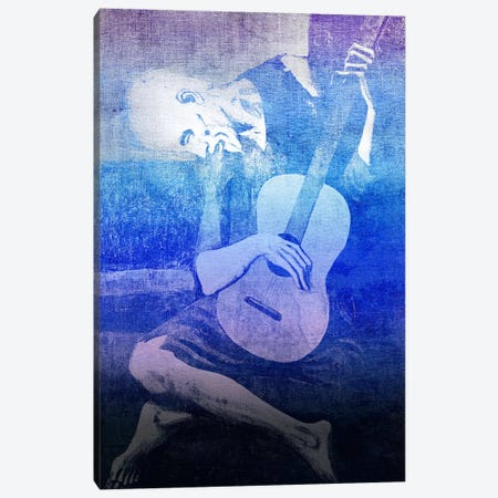 The Old Guitarist XI Canvas Print #CML90} by 5by5collective Art Print