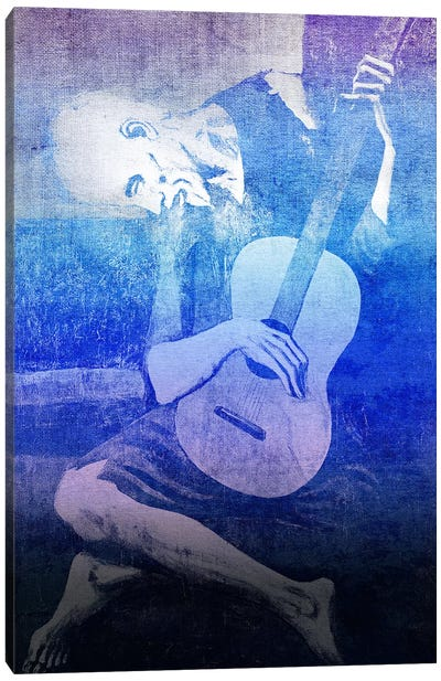The Old Guitarist XI Canvas Art Print