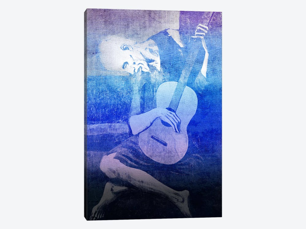 The Old Guitarist XI by 5by5collective 1-piece Canvas Art Print