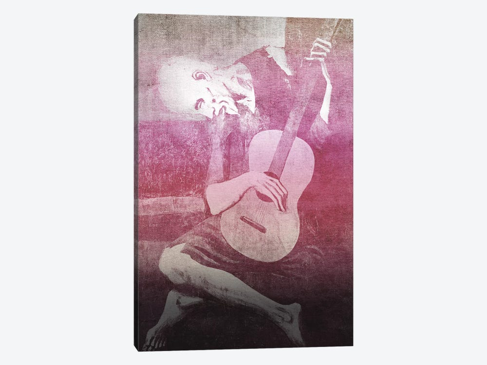 The Old Guitarist XII by 5by5collective 1-piece Canvas Wall Art
