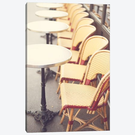 Paris Cafe Canvas Print #CMN107} by Caroline Mint Art Print
