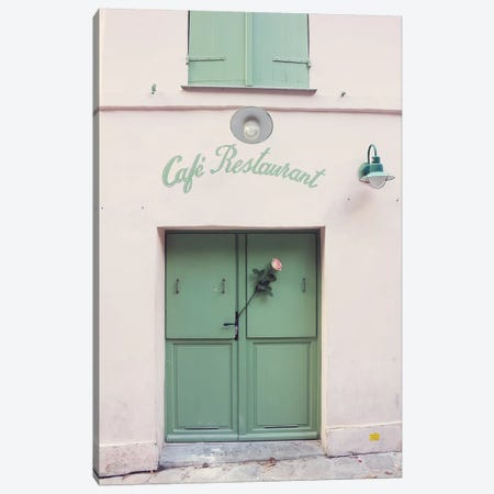 Paris Cafe Restaurant Canvas Print #CMN108} by Caroline Mint Canvas Wall Art