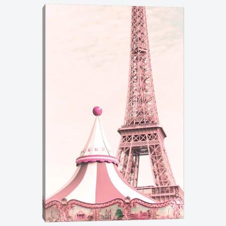 Paris Carousel Canvas Print #CMN109} by Caroline Mint Canvas Art